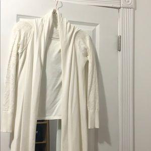 White DKNY shawl new